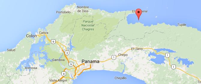 map panama san blas