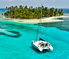 san blas sailing on a catamaran