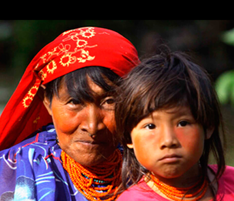 Kuna People in San Blas islands, Panama