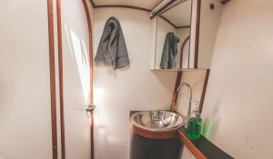 Catamaran ZOE bathroom charter san blas