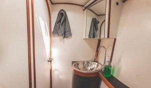 Catamaran ZOE bathroom charter san blas